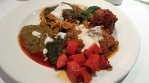 Oranges, browns, greens ... a true curry