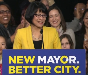 Olivia Chow threw her name in the hat today to be Toronto's next mayor