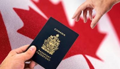 Handing passport