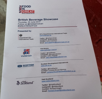 British Beverage Showcase program