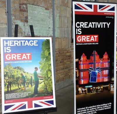 British Beverage Showcase signs