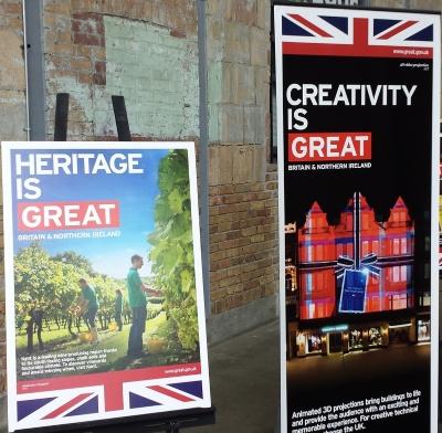 British Beverage Showcase signs