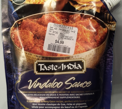 Taste Of India Vindaloo Sauce